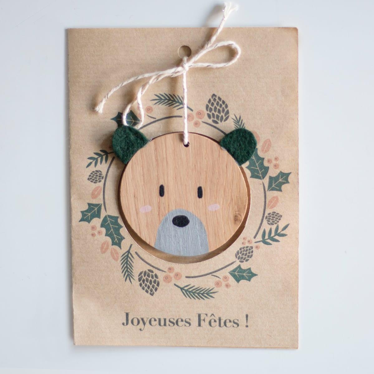 carte noel bois ours-1